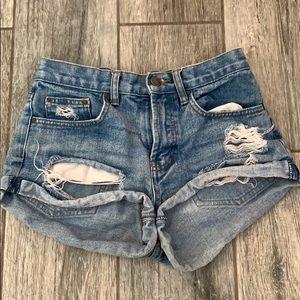 High waisted billabong shorts